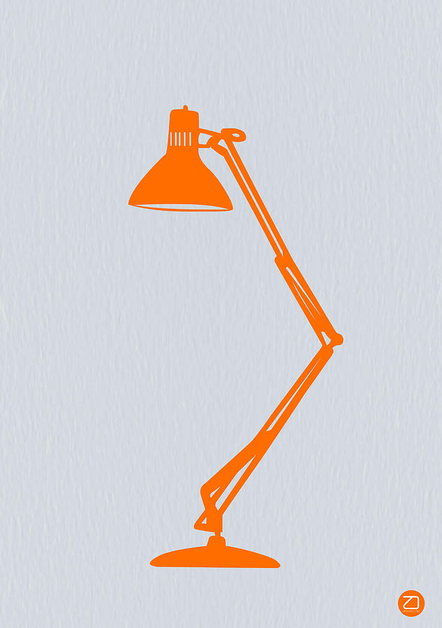 Lamp Photograph   Orange Lamp By Naxart Studio