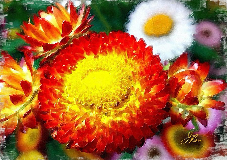 Orange Marigold Painting