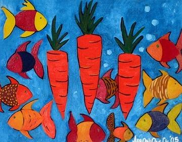 Carrots Painting - Orange by Nique Chalarca