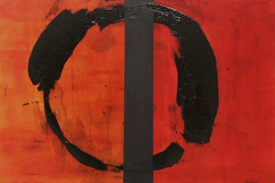 Orange Painting - Orange Order In Chaos by Ellen Beauregard