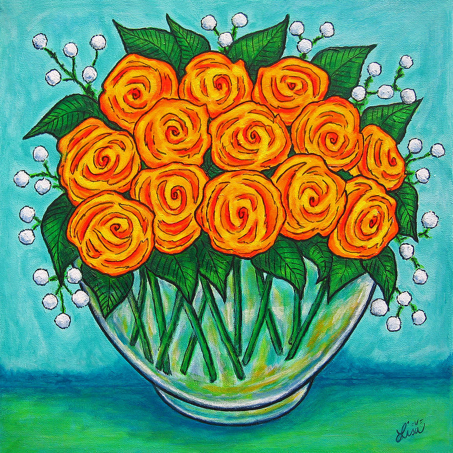 Orange Painting - Orange Passion by Lisa  Lorenz