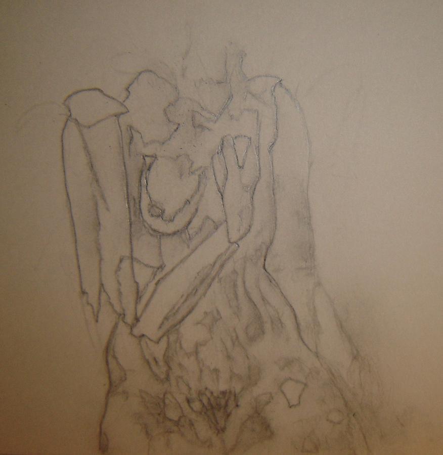 Female Nude Drawing - Orange Peel by Dean Corbin