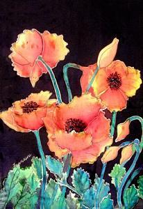 Poppies Painting - Orange Poppies by Francine Dufour Jones