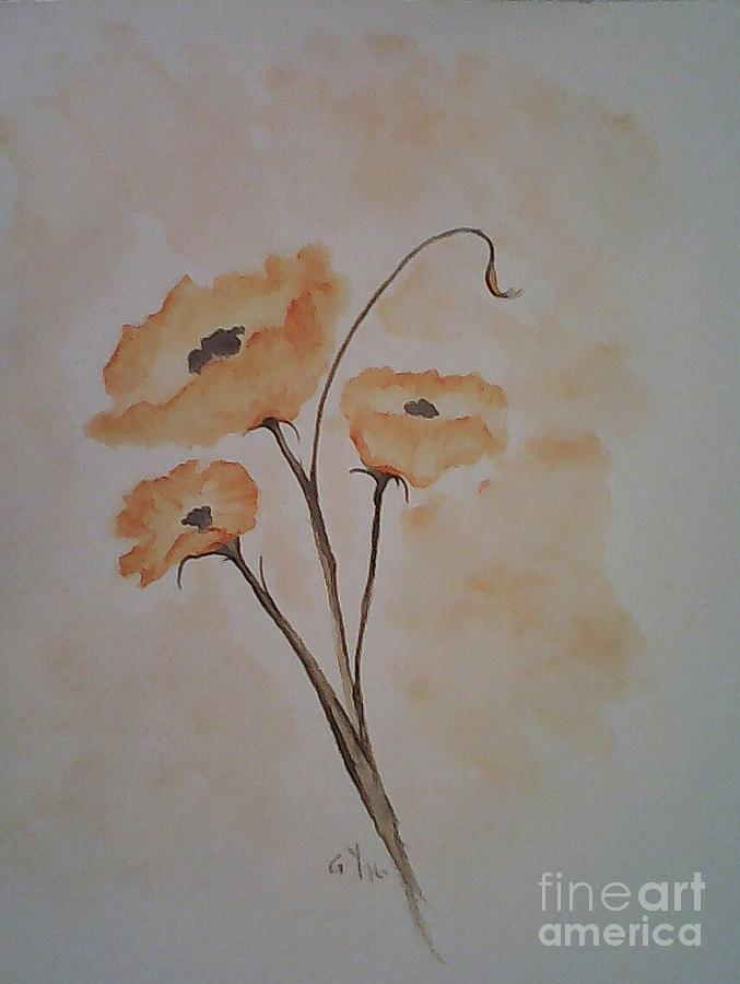 Poppies Painting - Orange Poppies by Ginny Youngblood