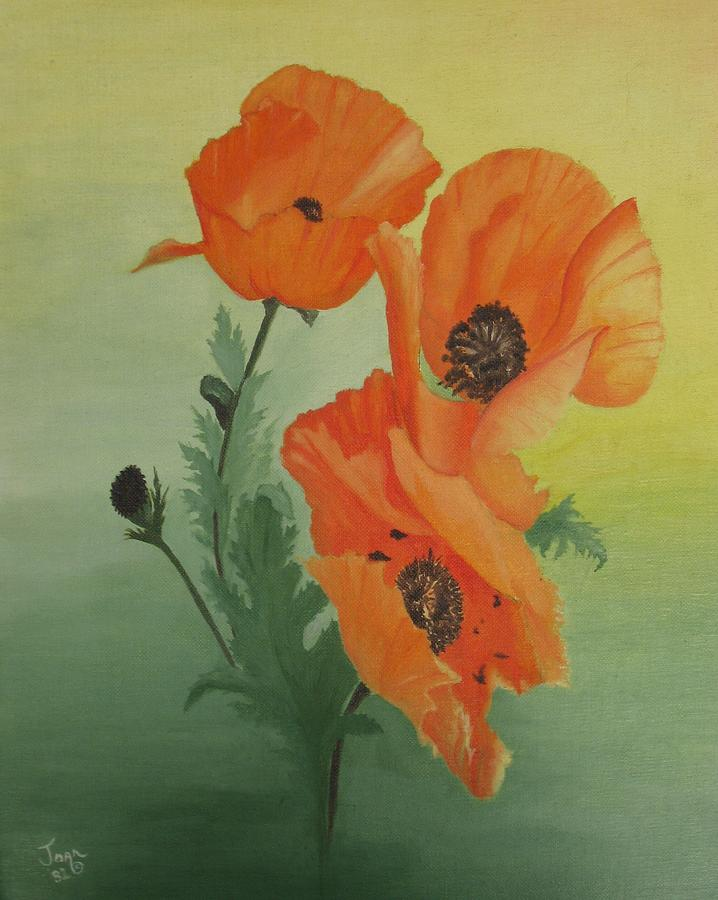 Flowers Painting - Orange Poppies by Joan Taylor-Sullivant