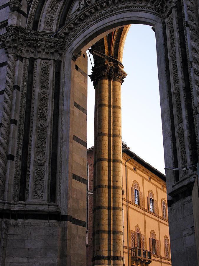 Tuscany Photograph - Orange Portal by Alan Todd