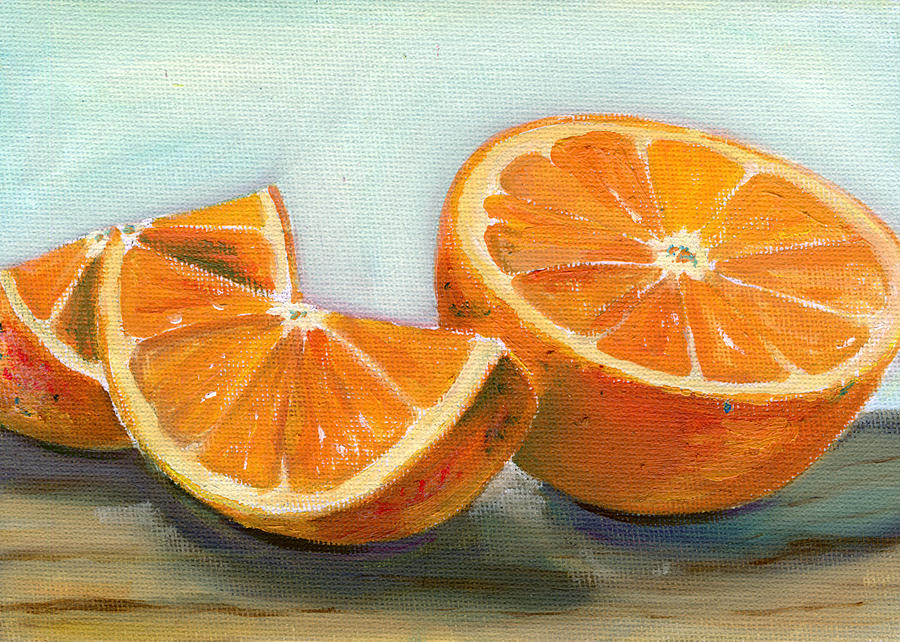 Oil Painting - Orange by Sarah Lynch