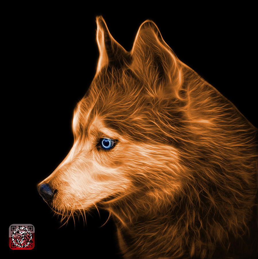 Orange Siberian Husky Art 6048 Bb Painting By James Ahn