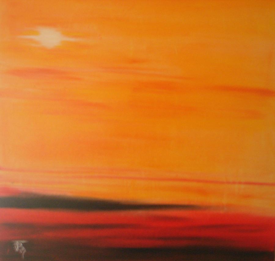Sunrise Painting - Orange Skies by Josh Burns