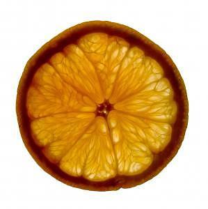 Orange Photograph - Orange Slice by Bob Senesac