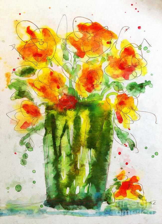 Flowers Painting - Orange Splendor by Claire Bull