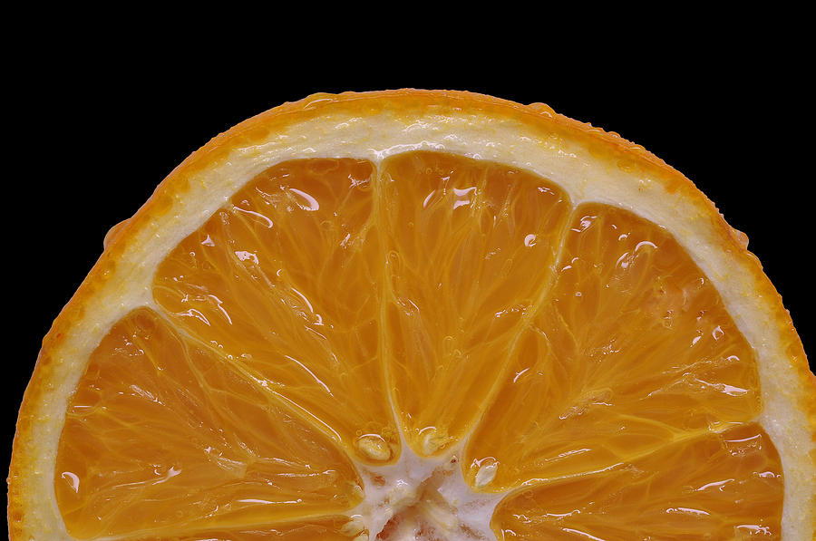 Isolated Object Photograph - Orange Sunrise On Black by Laura Mountainspring