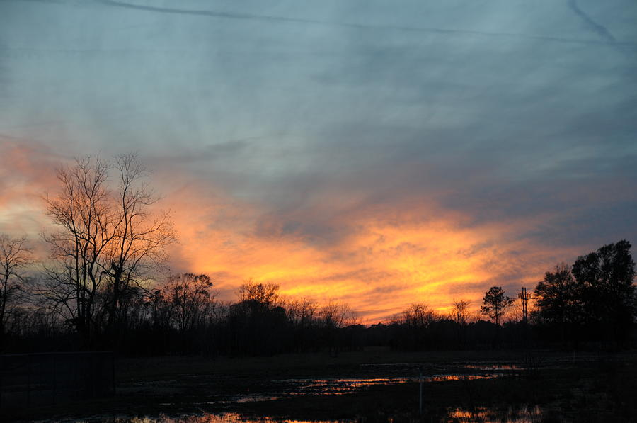 Sunset Photograph - Orange Sunset by Bill Perry