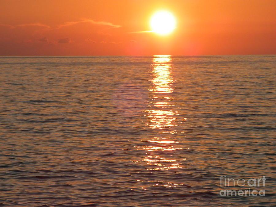 Sun Photograph - Orange Sunset by Hilton  Woodside