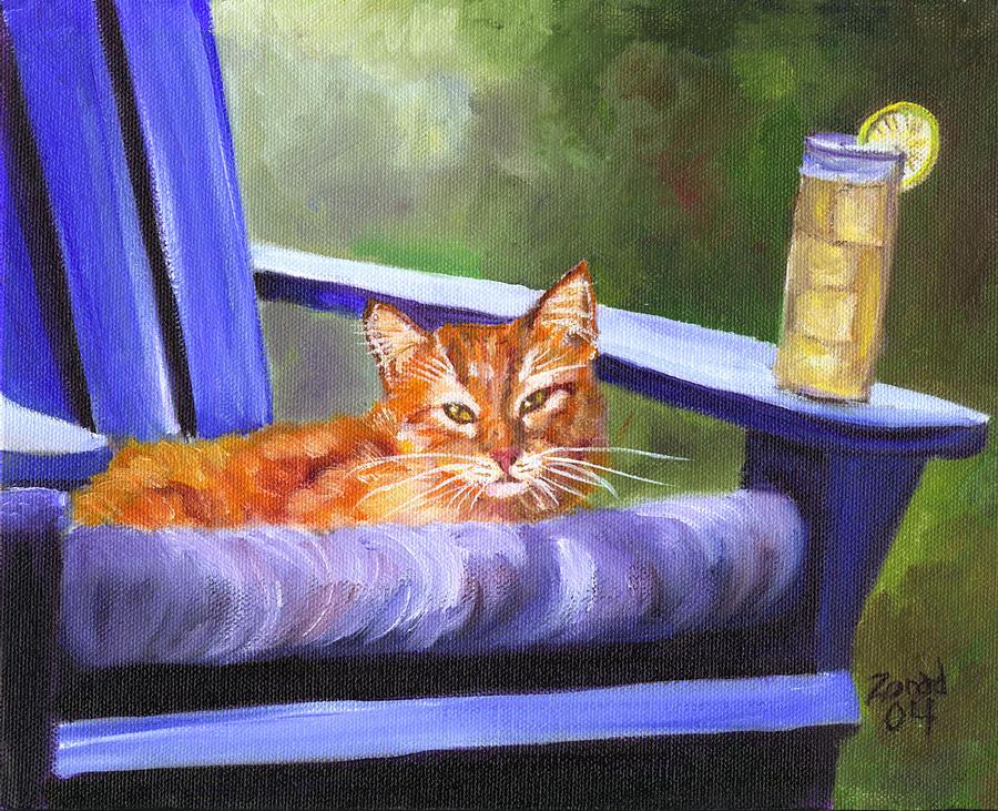 Orange Tabby and Lemonade by Mary Jo Zorad