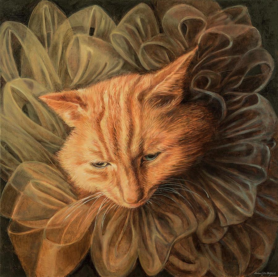 Fashion Illustration Painting - Orange Tabby by Barbara Tyler Ahlfield