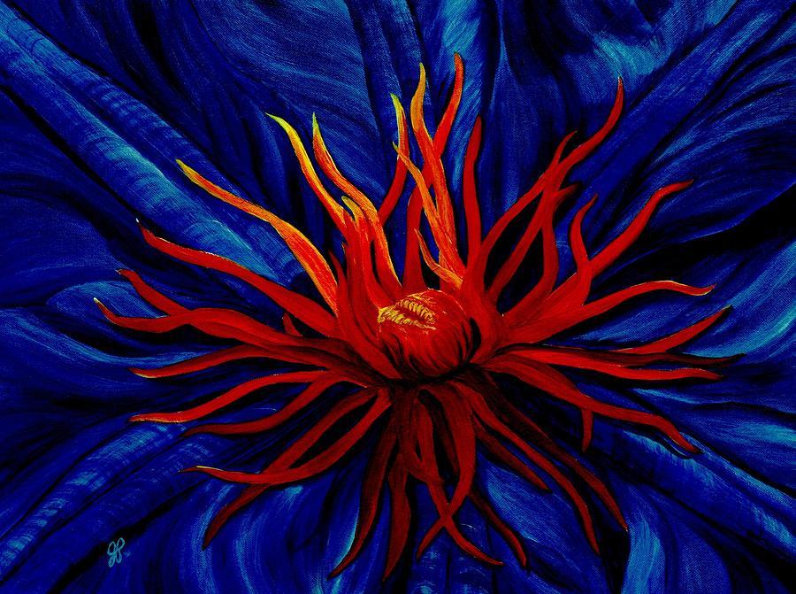 Macro Painting - Orange Tango by Julie Pflanzer
