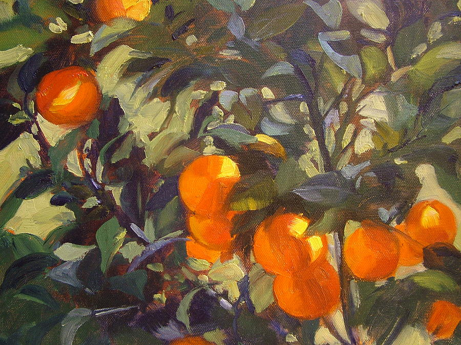 Orange Tree Painting By Nancy Paris Pruden
