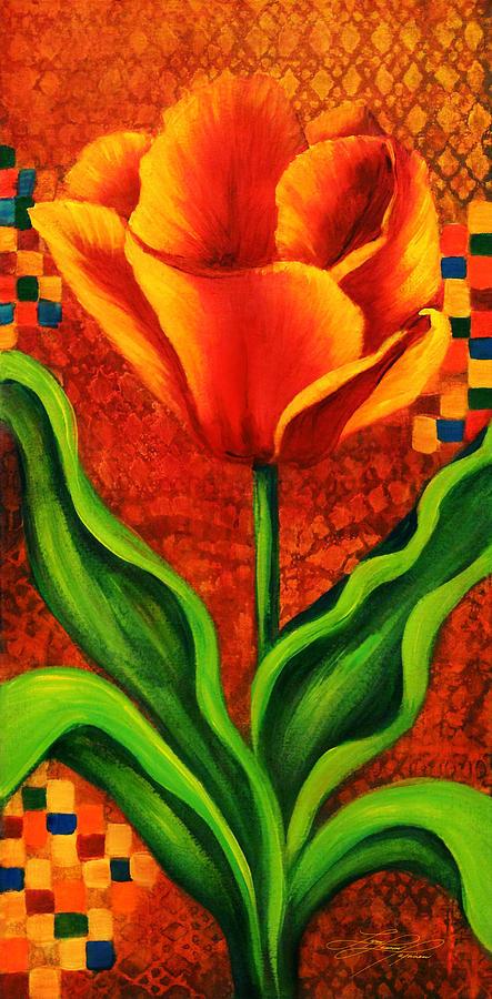 Floral Painting - Orange Tulip by Lynn Lawson Pajunen