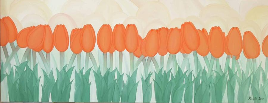 Flower Painting - Orange Tulipans by Marinella Owens