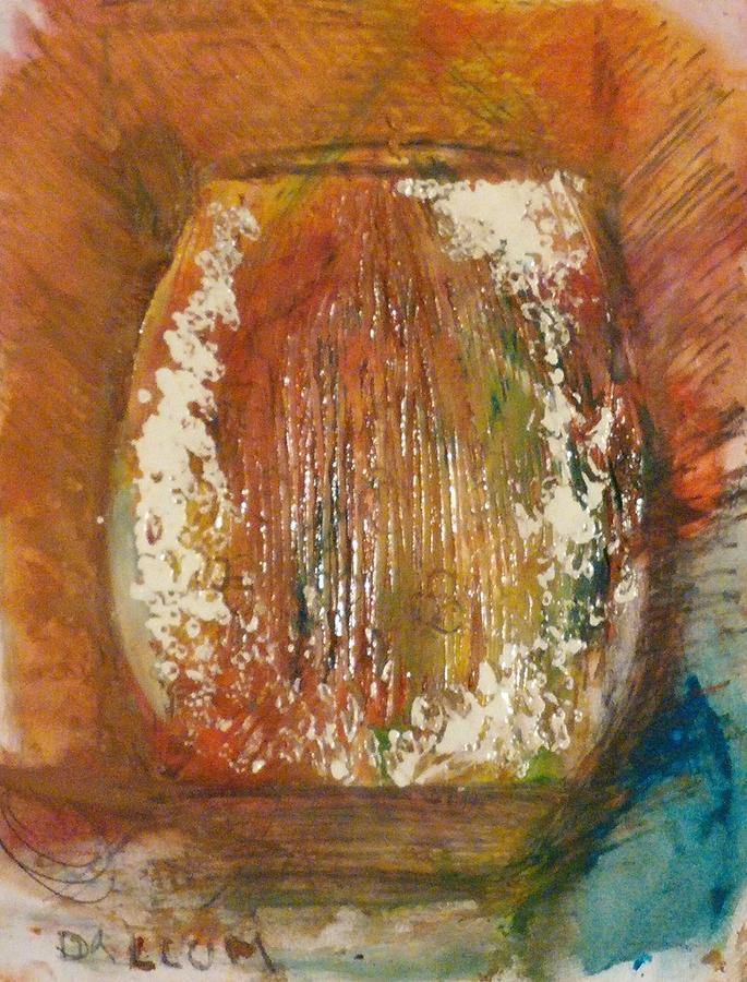 Painting - Orange Vase by Gregory Dallum