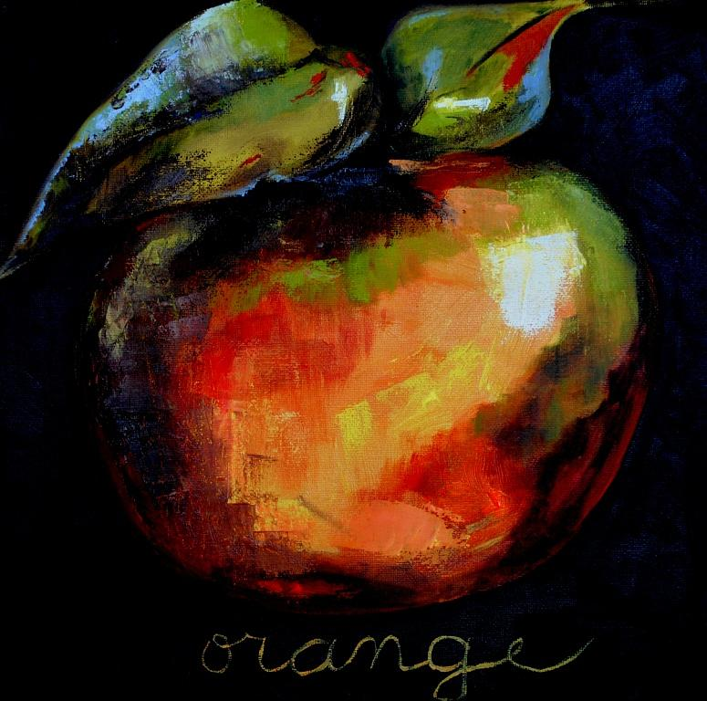 Fruit Painting - Orange by Veronique Chabot