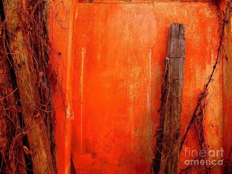 Michael Fitzpatrick Photograph - Orange Wall By Michael Fitzpatrick by Mexicolors Art Photography