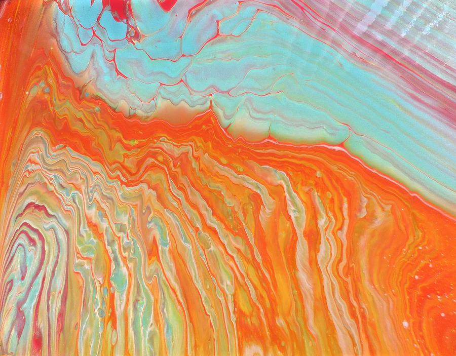 Acrylic Mixed Media - Tangerine Beach by Darin Black