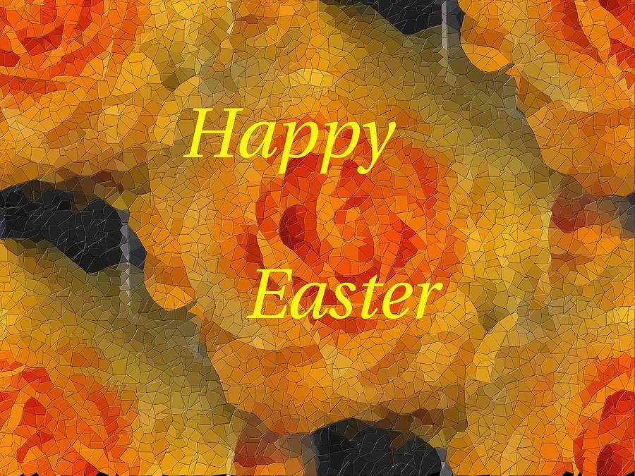 Easter Digital Art - Orange You Lovely Easter by Tim Allen