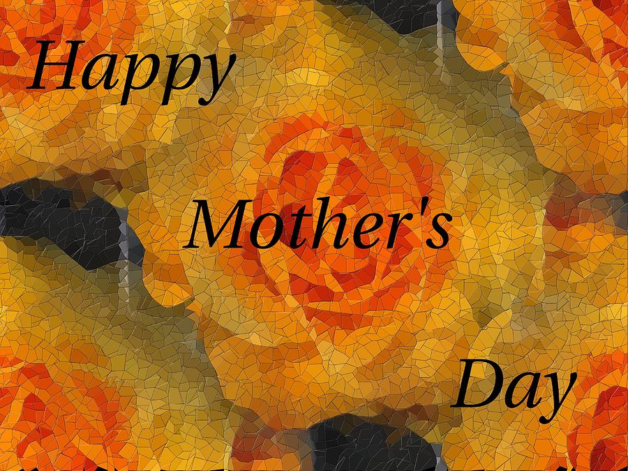 Greetings Digital Art - Orange You Lovely Mothers Day by Tim Allen
