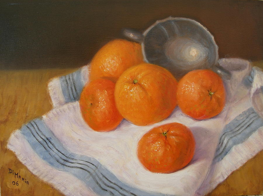 Realism Painting - Oranges And Tangerines by Donelli  DiMaria