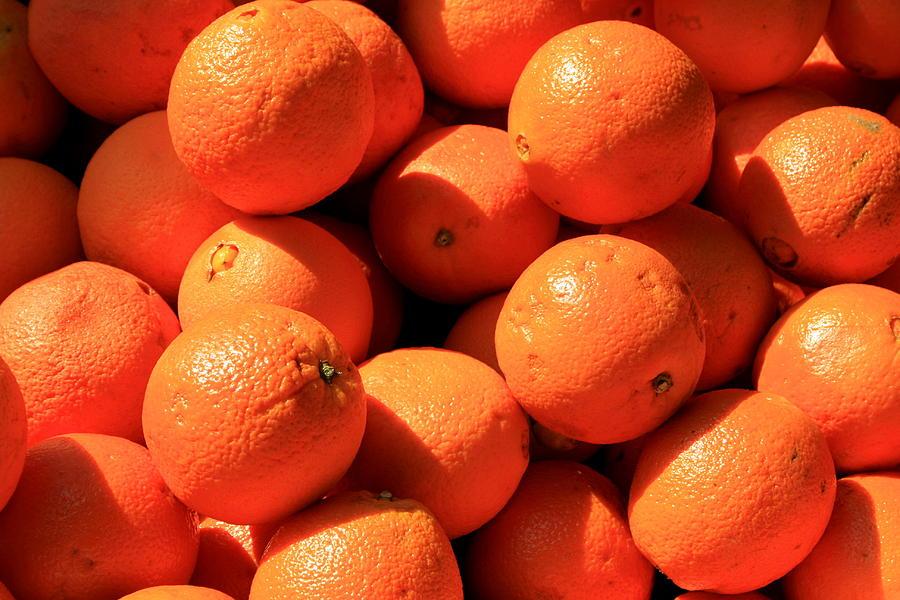 Orange Photograph - Oranges by David Dunham