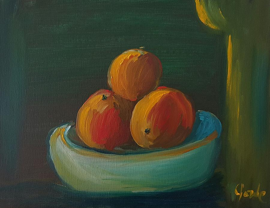 Still Life Painting - Oranges In A Bowl  by Steve Jorde