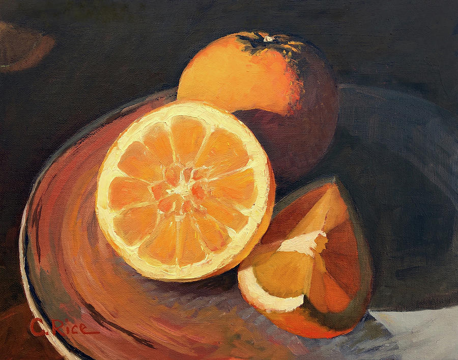 Oranges In Late Afternoon Sunlight by Chris Rice