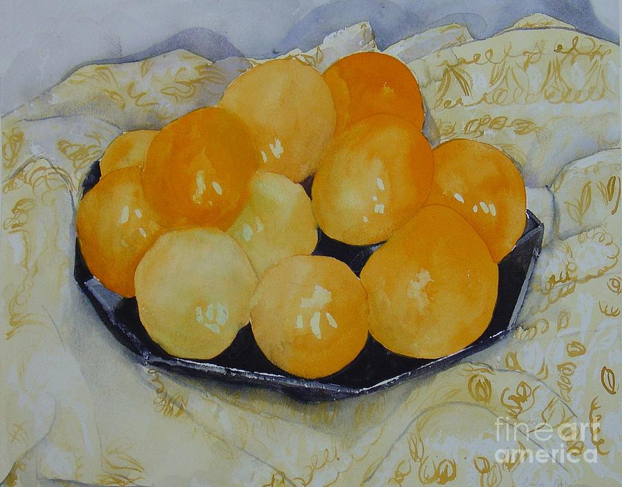 Oranges Painting by Leila Atkinson