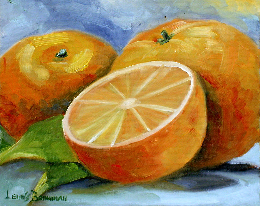 Fruit Painting - Oranges by Lewis Bowman