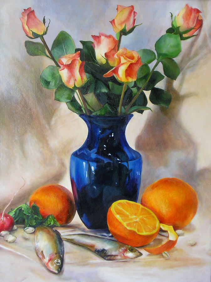 Still Life Painting - Oranges by Sara Elizabeth Walling