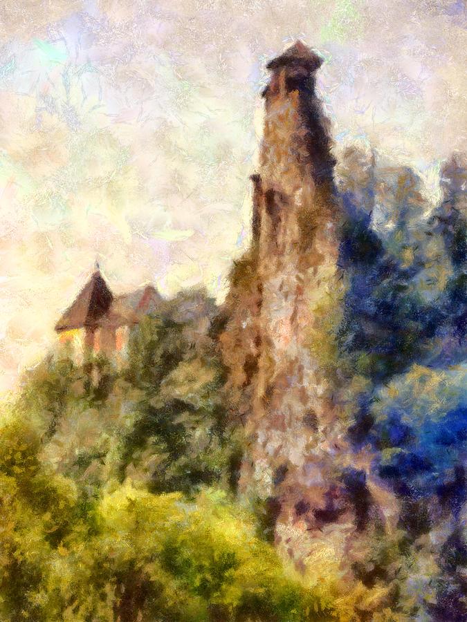 Castle Digital Art - Orava Castle - Rear Side by Peter Kupcik