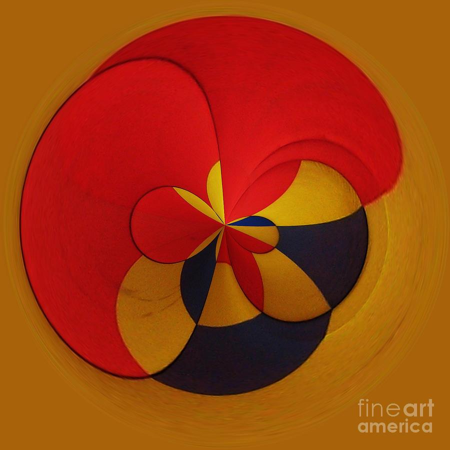 Abstract Digital Art - Orb 9 by Elena Nosyreva