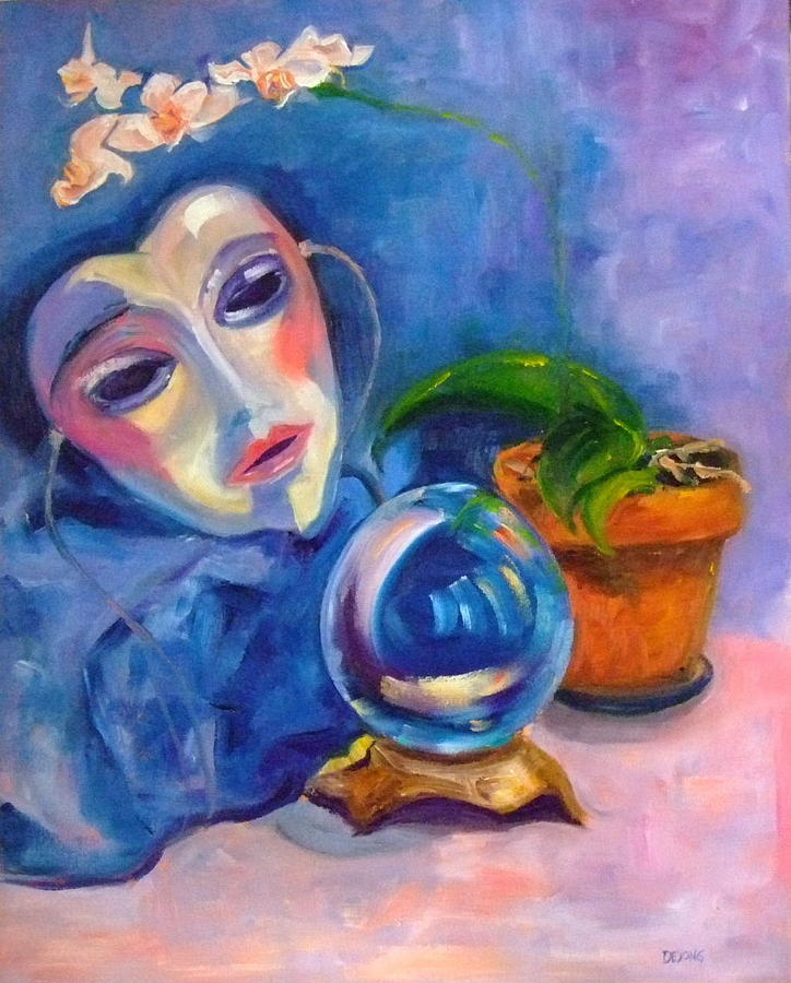 Orchid Painting - Orb by Glynis Berger