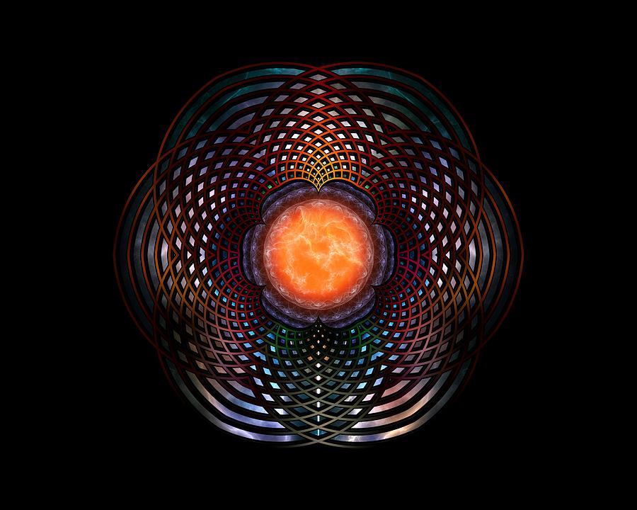 Orb Digital Art - Orb Moon Rings by Xzendor7