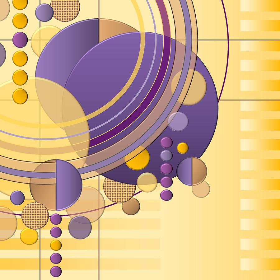 Art Deco Digital Art - Orbital by Tara Hutton