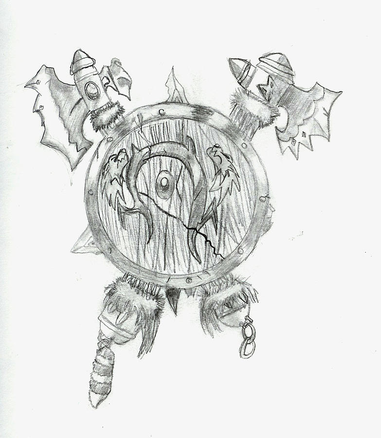 Orc Symbol Drawing By Zach Rodgers