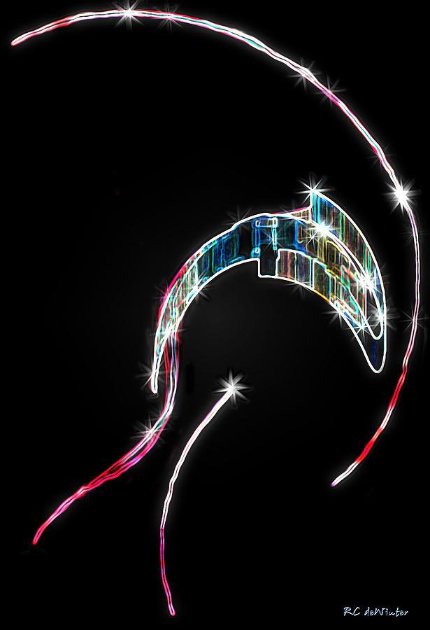Orca Digital Art - Orca Breaching by RC DeWinter