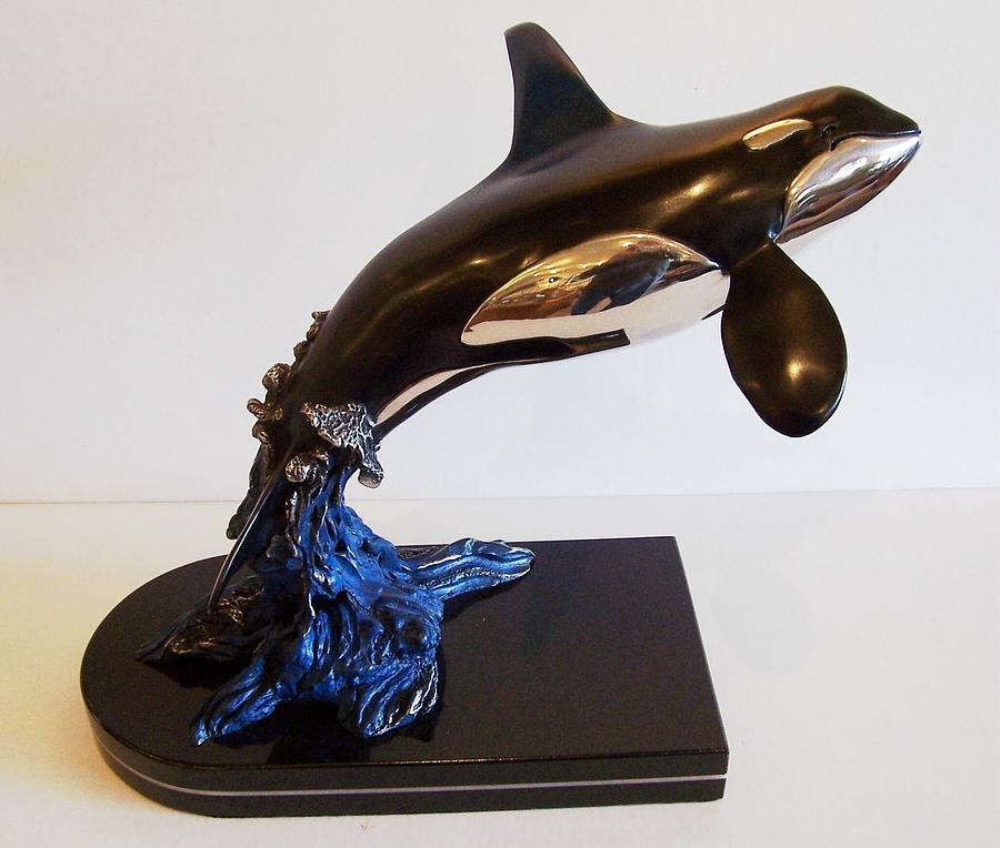 Orca Sculpture - Orca by Doug  Bison