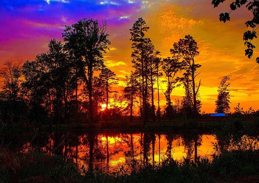 Sunset Photograph - Orchard Lake Sunset by Jeff Kurtz