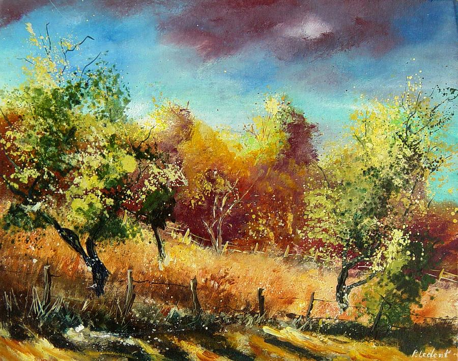 Flowers Painting - Orchard by Pol Ledent