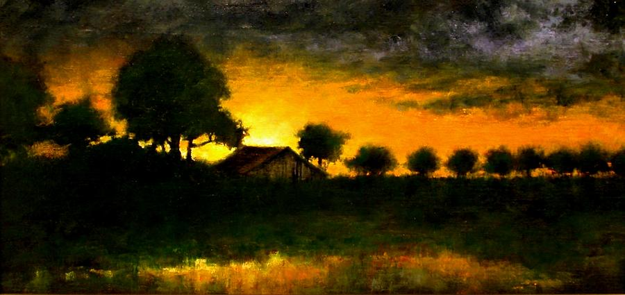 Painting Painting - Orchard Sundown by Jim Gola