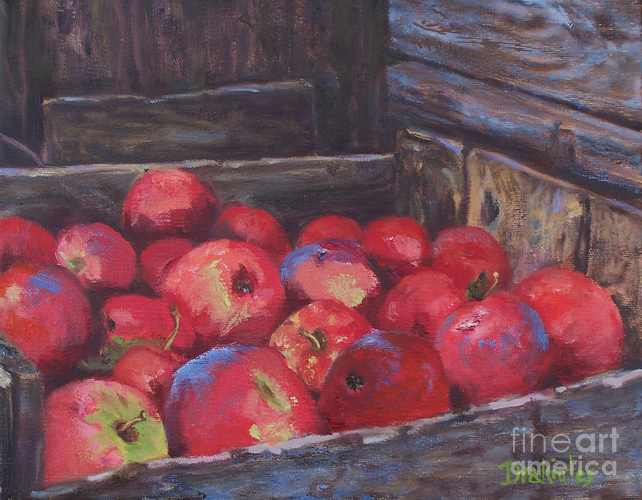 Apples Painting - Orchards Harvest by Alicia Drakiotes