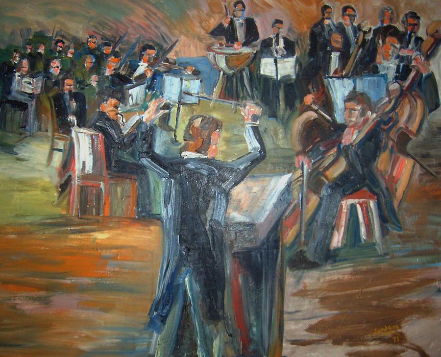 People Painting - Orchestra by Joseph Sandora Jr